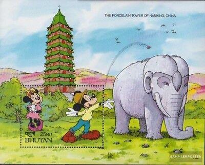Ingenious Bhutan Block298 Unmounted Mint / Never Hinged 1991 Walt-disney-figures Jade White