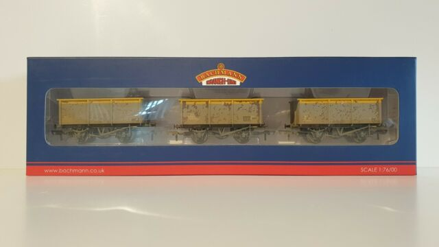 27T STEEL TIPPLER ZKV WAGONS BR GREY /& YELLOW WEATHERED NEW Condition