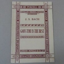 vocal score BACH God's time is the best, Novello Octavo