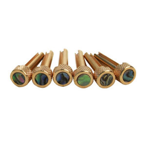 6pcs-Solid-Brass-Bridge-Pins-Abalone-Dot-Inlay-for-Acoustic-Guitar-Accessory
