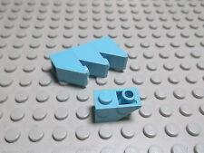 Lego 4 Negativ Steine 45 Grad 1x2 maerskblau 3665 Set 1651 10152 10155