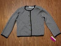 Liz Claiborne Collection Checks Button Up Long Sleeve Jacket Women L