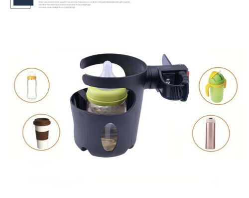 360° Rotatoin Universal Cup Holder With Hook For Stroller Wheelchair Bike