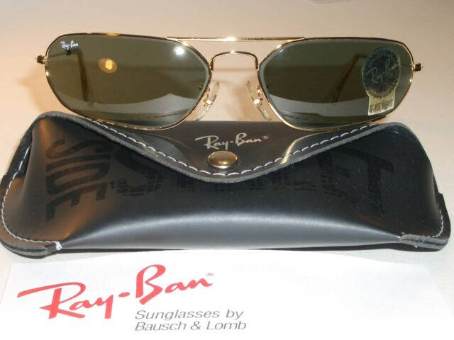 46fe31a3d2 VINTAGE B L RAY BAN W1959 G15 SLEEK GP MODIFIED FUGITIVE AVIATOR SUNGLASSES  NEW