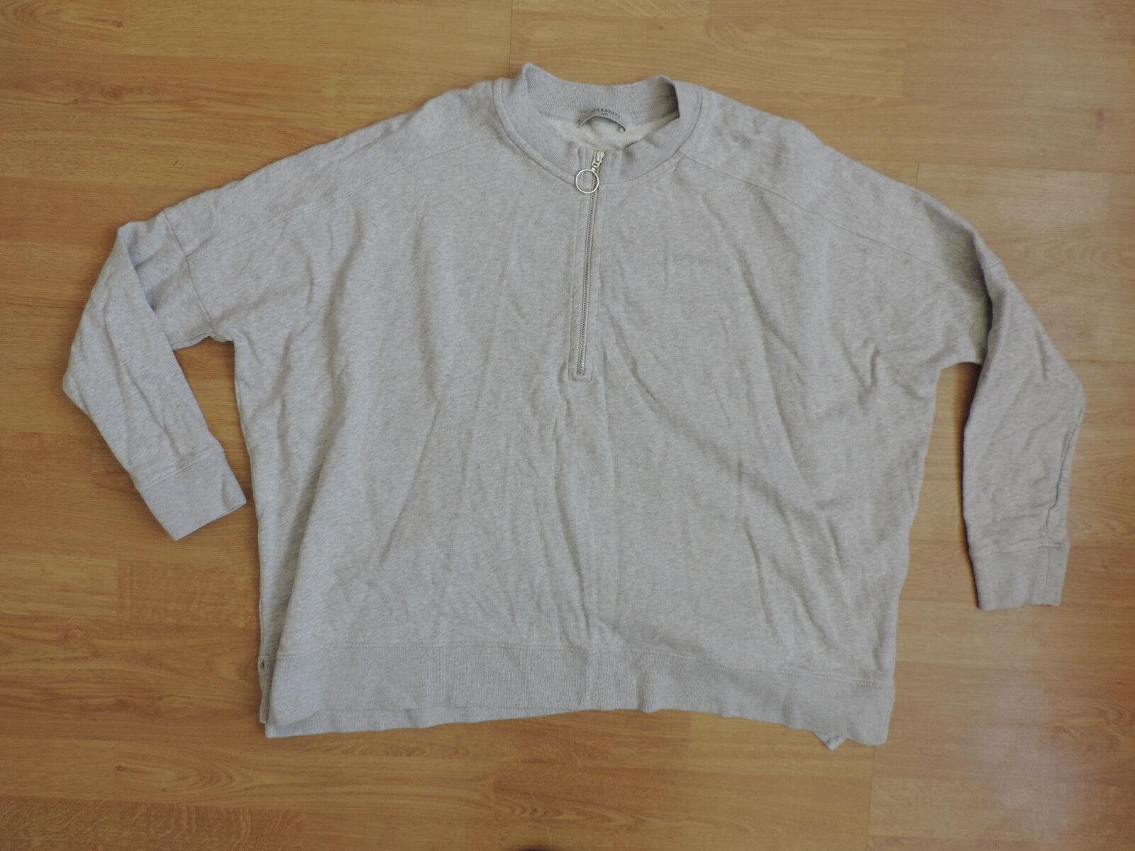 Donna AllSaints grigio Sweater Jumper K7-A9