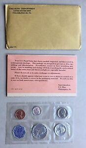 USA-1963-Proof-Set-Philadelphia-in-Umschlag-Silber-PP-polierte-Platte-1c-50c