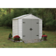 thumbnail 2 - Arrow Storage Products Viking Series Vinyl-Coated Steel Storage Shed, 8 ft. x...