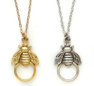 John wind necklace bee charm holder maximal art jewelry new ebay image is loading john wind necklace bee charm holder maximal art mozeypictures Gallery
