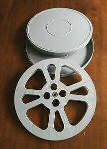 1-NEW-16mm-1600-039-EMPTY-PLASTIC-REEL-amp-CAN-SET-GRAY