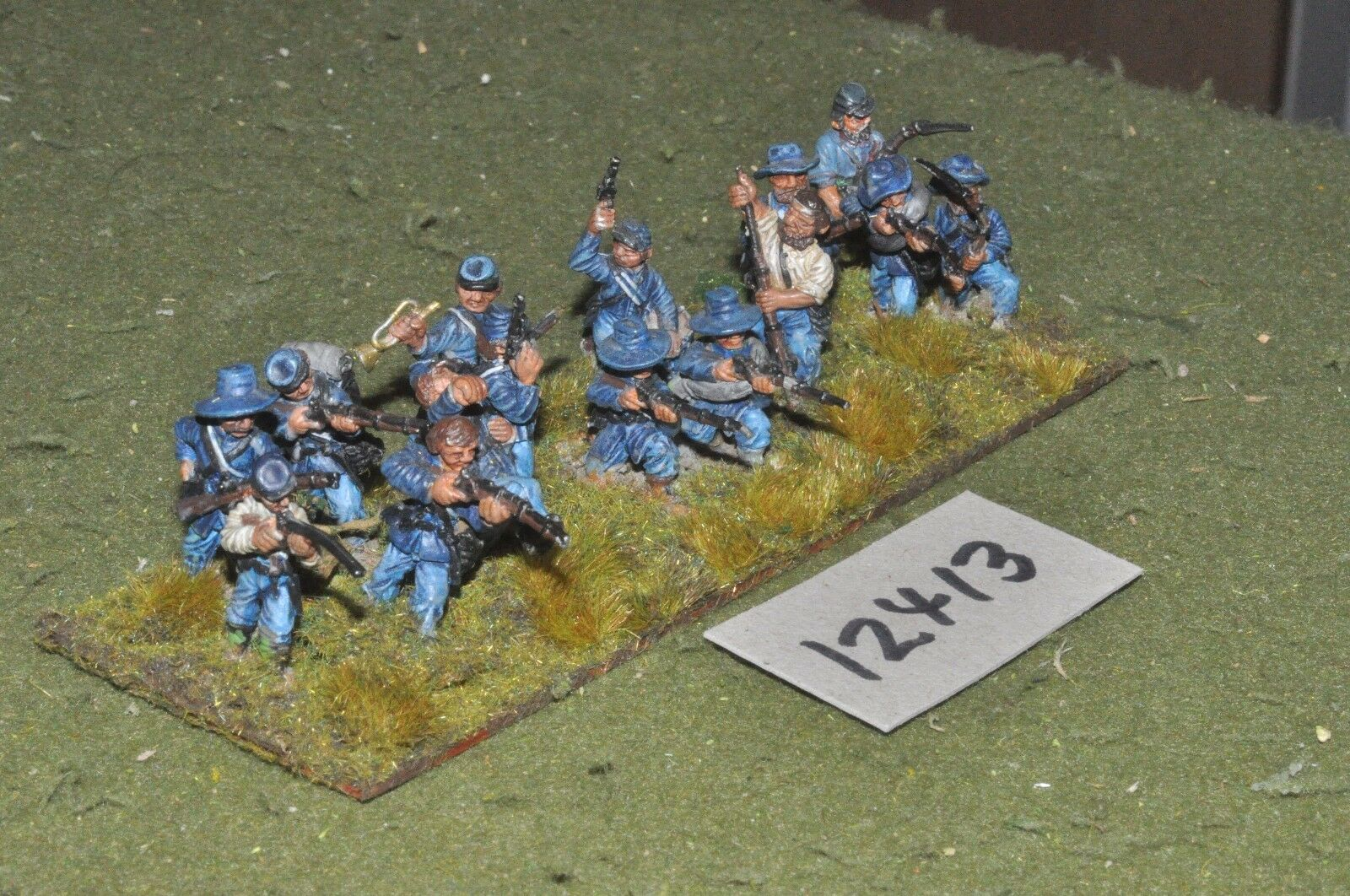 25 mm acw   union - amerikanische bürgerkrieg infanterie 15 zahlen - inf (12413)