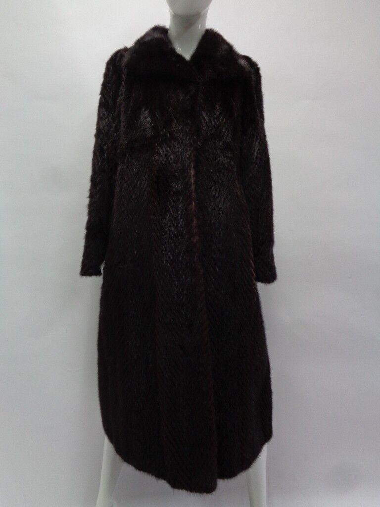 Abrigo chaqueta de piel de Menta Negro rata almizclera  Mujeres Mujer Talla 6-8 pequeñas y medianas  Centro comercial profesional integrado en línea.