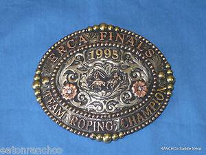 Customizable Mortenson Rodeo Trophy Belt Buckle Silver