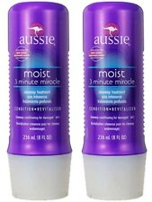 """2X AUSSIE """"3-Minute Miracle"""" Moist Deep Conditioner 8fl oz NEW Damaged Hair Two"""