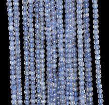 "3MM BERMUDAN BLUE IOLITE GEMSTONE GRADE A BLUE ROUND 3MM LOOSE BEADS 16"""