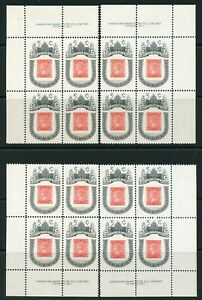 Weeda-Canada-399-VF-MNH-M-S-of-PBs-on-DF-5c-Victoria-Centenary-CV-9-60