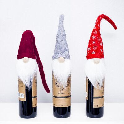 Chapeau Long Toppers Housse Bouteille Vin Couverture Père Noël Décoration Table | eBay