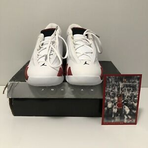 f973e7cb Image is loading Jordans-14s-Retro-White-Varsity-Red-NIB-Dead-