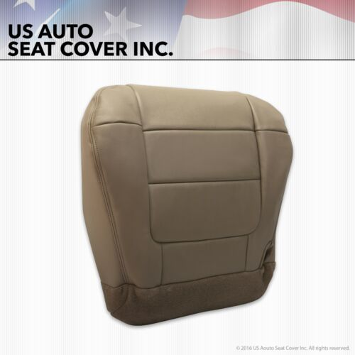 2001 2002 Ford F-150 Lariat XLT Super Crew Driver Bottom Leather Seat Cover Tan