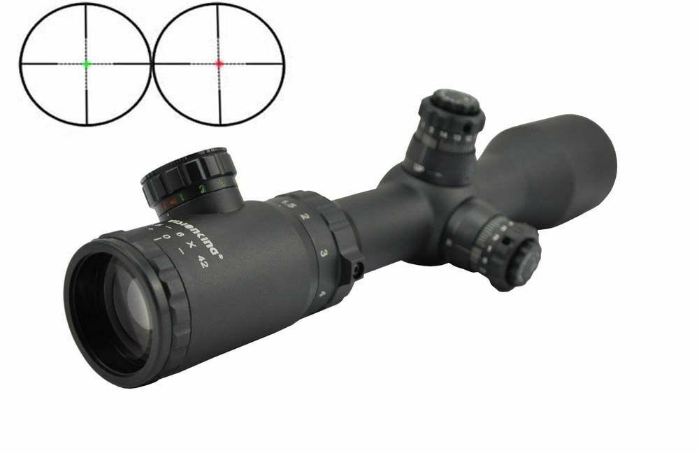 Visionking 1.5-6x42 militar Mil Dot 30mm caza Rifle Scope 223 308 243