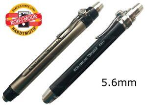 KOH-I-NOOR-MECHANICAL-PENCIL-5-6-MM-CLUTCH-LEADHOLDER-METAL-SHARPENER-5311-5312