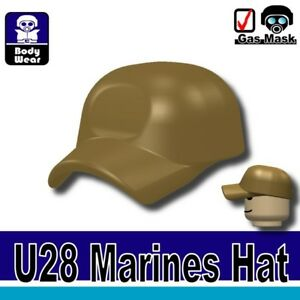 Dark Tan Marine Hat (W59) Sniper cap military compatible w/toy brick minifigures
