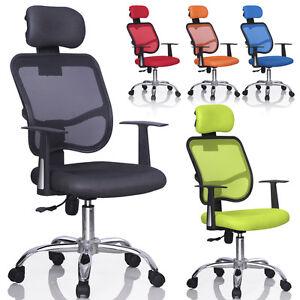 New Mesh Swivel Back Office Ergonomic Computer Chair w/ Adjustable Head Rest