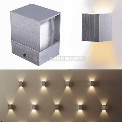 3W Modern LED Wall Mount Light Up Down Cube Indoor Outdoor Sconce Lighting Lamp