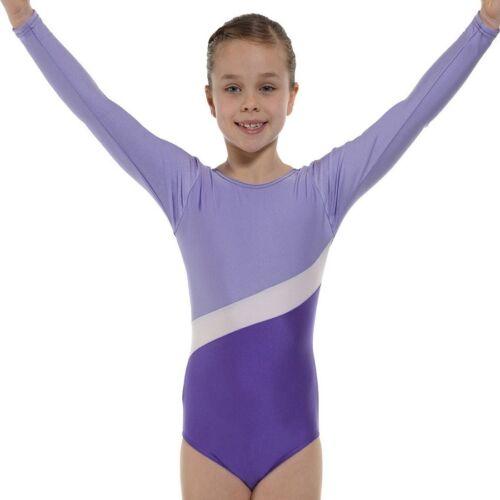 VIOLA in nylon lycra bambina ginnastica Leotard PALESTRA Dancewear Età 4-12 PALESTRA 2 LILLA