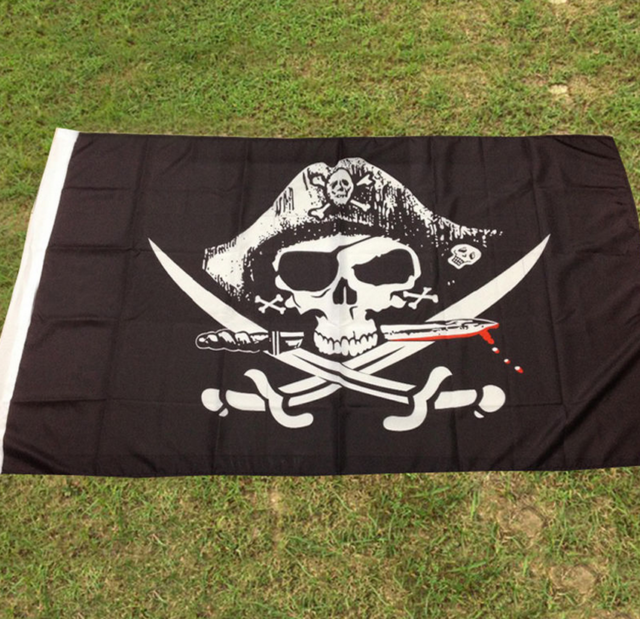 Large Skull /& Cross Crossbones Sabres Swords Jolly Roger Pirate Flags 3x5、Fad