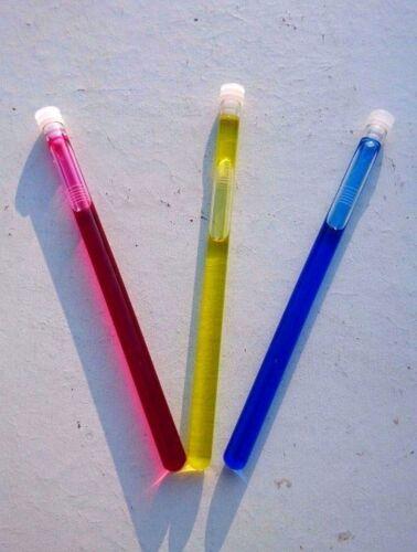 1 x Rot und 1 x Gelb Röhrchen /& Plombe für Verdunster je 1 x Blau