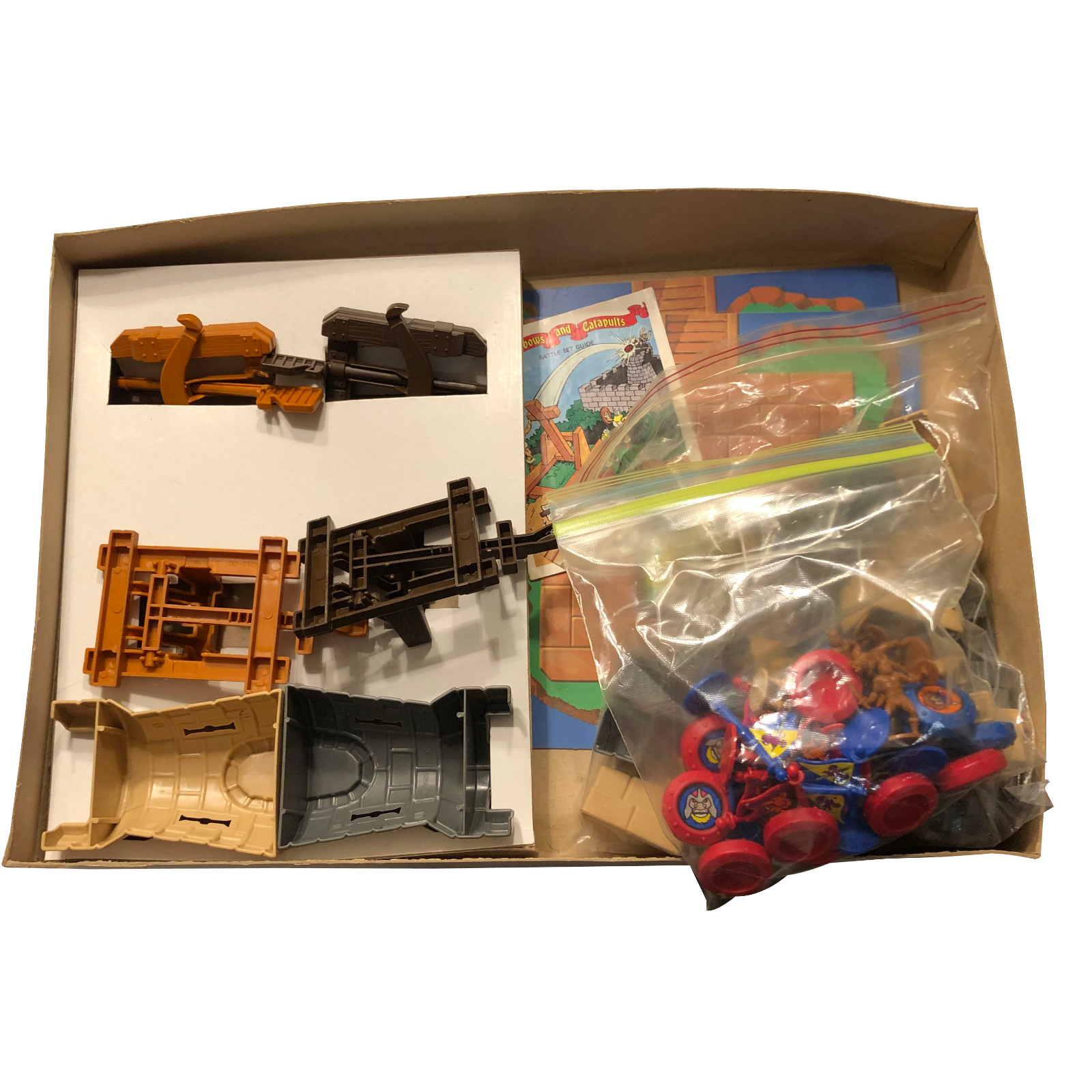 1983 arbalètes et catapultes Battle Set jeu de plateau Lakeside complet NEAR Comme neuf