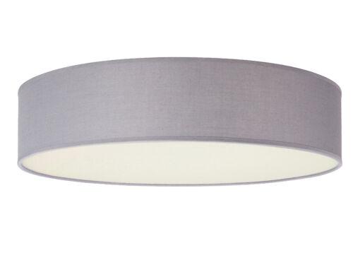 Textil Deckenlampe Stoffschirm Deckenleuchte mit Stoff Lampenschirm Grau 60cm