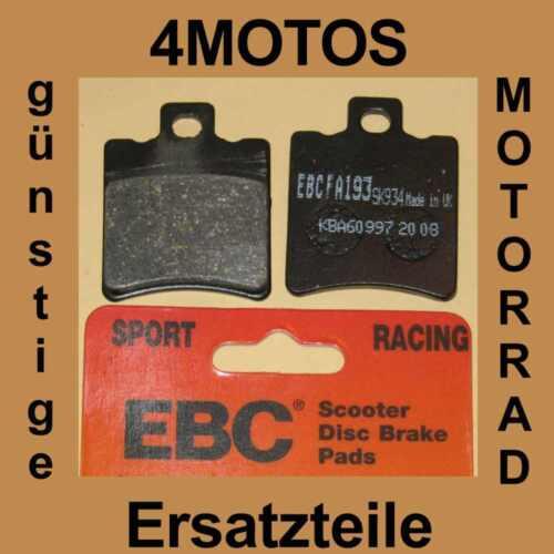 Bremsbeläge EBC Benelli Velvet 125 LC Bj 01 vorne