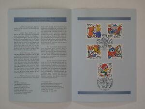(98j19) Bund Erinnerungsblatt 1998 ESST Mi.Nr. 1990-1994 Jugend Trickfilmfiguren