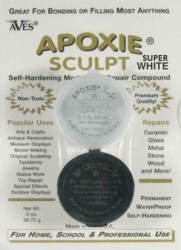 2 part modeling compound Apoxie Sculpt 1//4 lb A /& B Super White