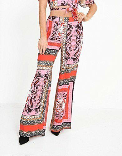 Vente Femmes Foulard à Motifs Jambes Larges Plazzo Pantalon Taille Uk 6-14 Pourtant Pas Vulgaire