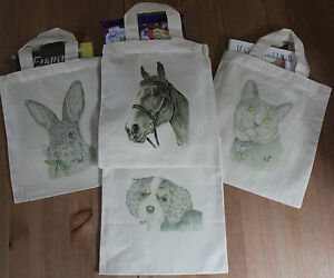 Canvas-Gift-Bags-Different-Art-Designs-Dog-Horse-Cat-Rabbit-Personalised-Free
