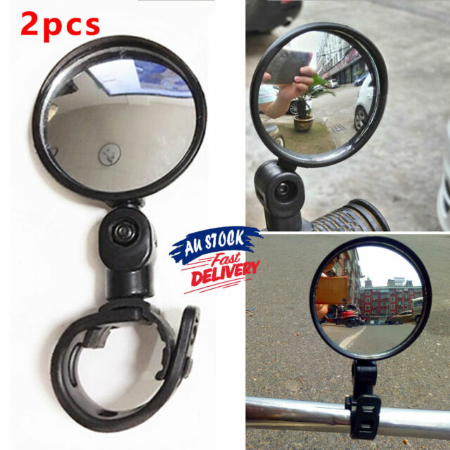 2x360° Rear Safety Cycling Bike Bicycle Rearview Mirror Flexible Handlebar View