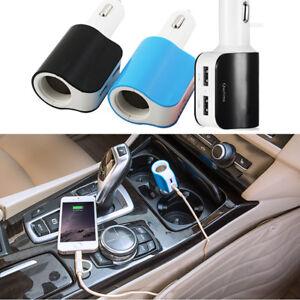 Cargador-de-coche-USB-adaptador-con-MECHERO-TABACO-Conector-Y-2-CARGA-puertos