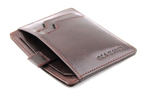 Oca Bianca Unisex SLIM LINE Sacchetto di carta di credito vera pelle italiana