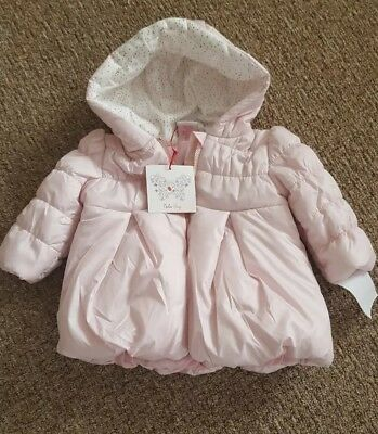 Nula Bug Puffa Padded Baby Coat 1 Years Pink New/tag Jacket Hooded 12 Months