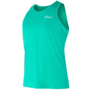 6b3edf39ce3b3 Asics Singlet Motion Gym Running Green Mens Fitness Top Vest 110406 ...