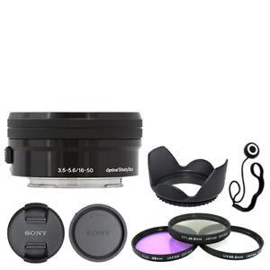 Sony E PZ 16-50mm f/3.5-5.6 OSS Lens Black + Deluxe Accessory Kit