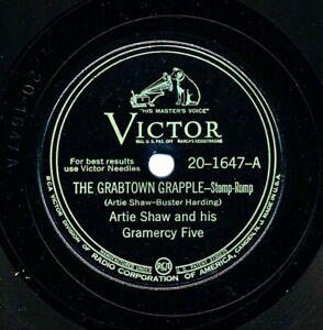 ARTIE SHAW and his Gramercy Five on 1945 Victor 20-1647 - The Grabtown Grapple