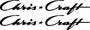 "2 Chris Craft decals 16"" FREE SHIPPING"