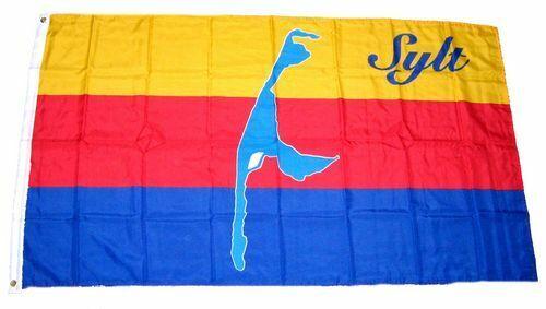 Fahne Insel Sylt Hissflagge 90 x 150 cm Flagge