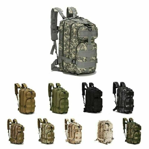 US Waterproof Backpack Outdoor Camping Hiking Bag 30L Jungle Military Tactical