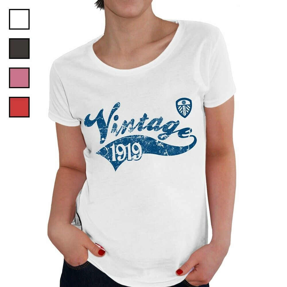 Leeds United F.C - Personalised Ladies T-Shirt (VINTAGE)