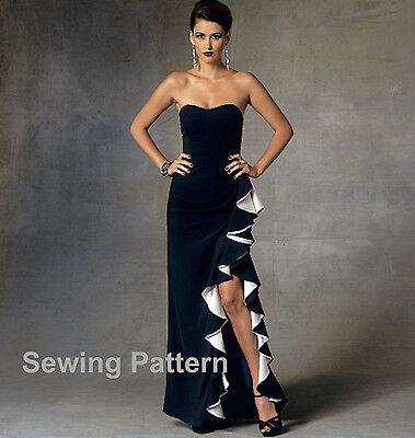BN Vogue V1604 Designer Badgley Mischka PATTERN Size 6-22 Misses Dress