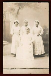 WW1-NURSES-SISTERS-INFIRMARY-ANTIQUE-RPPC-PHOTO-POSTCARD